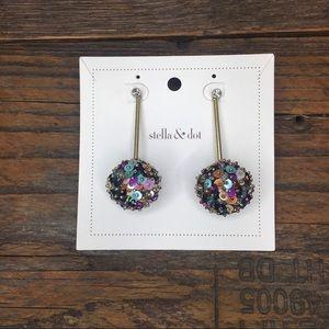 Stella & Dot Pom Pom Earrings